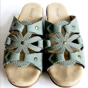 Like new! Bjorndal sandals slides mint green